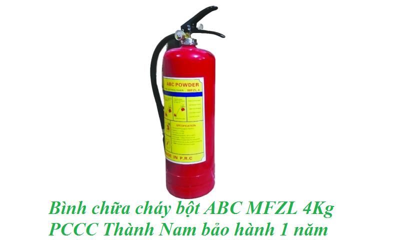 Bình chữa cháy bột ABC MFZL 4Kg