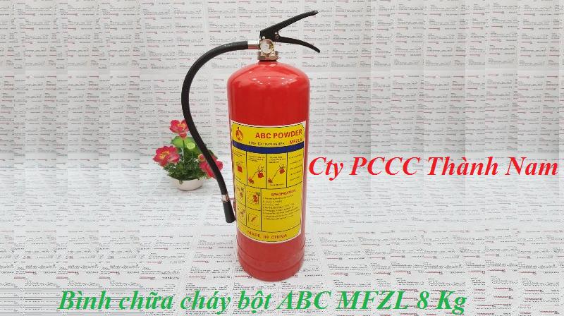 Bình chữa cháy bột ABC MFZL 8 Kg